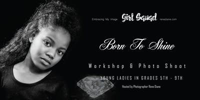 "Black & White Stylized Photo Shoot theme ""Born to Shine"""