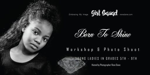 "Black & White Stylized Photo Shoot theme ""Born to Shine"""