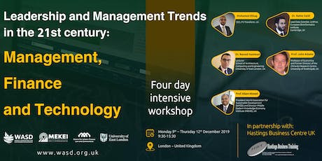 Leadership and Management in 21st Century: management, finance & technology tickets