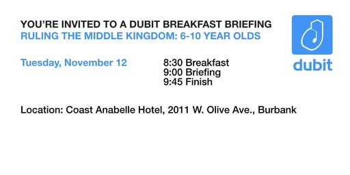 Dubit Breakfast Briefing: Ruling the Middle Kingdom (6-10 year olds)