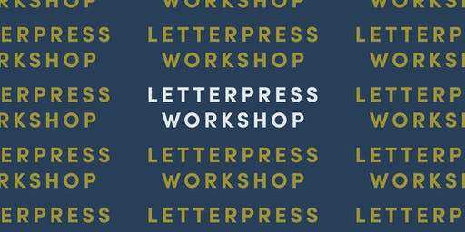 Holiday Letterpress Workshop by For The Press x ATLphabets
