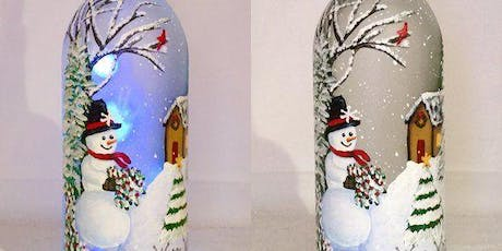 Holiday Lighted Wine Bottle Painting Event tickets