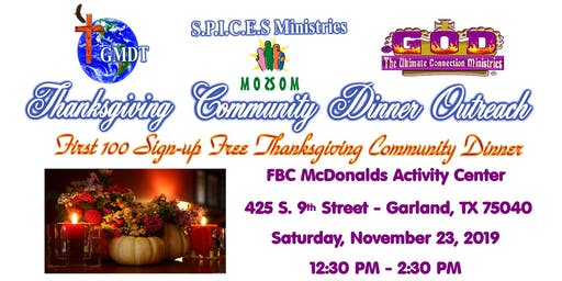 Garland Free Thanksgiving Community Dinner