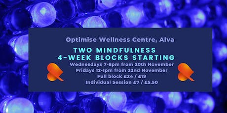 Mindfulness 4-Week Block - Alva - Individual Sessions tickets