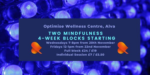 Mindfulness 4-Week Block - Alva - Individual Sessions