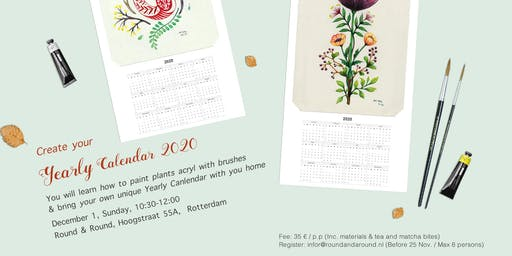 Create Your Yearly Calendar 2020 & Plants Painting