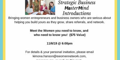 Strategic Business Introductions Mastermind Networking Event