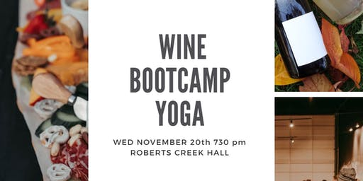 Wine Bootcamp Yoga