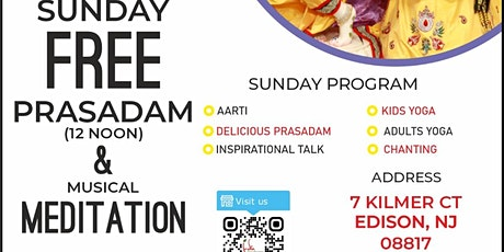 Inspirational Spiritual Talk and Musical Meditation with FREE Prasadam tickets
