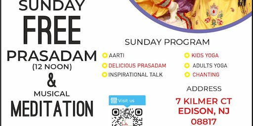 Inspirational Spiritual Talk and Musical Meditation with FREE Prasadam