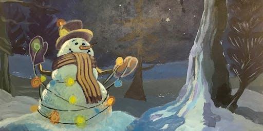 Pour & Paint Snowman
