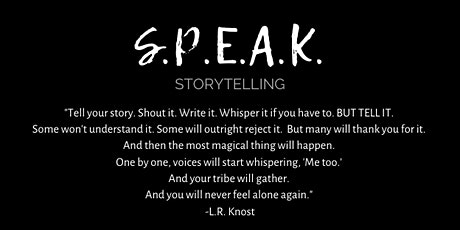 SPEAK Storytelling: ENDURANCE with Jeannie Kaiser tickets