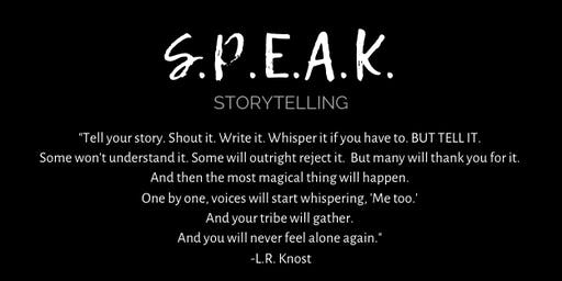 SPEAK Storytelling: ENDURANCE with Jeannie Kaiser