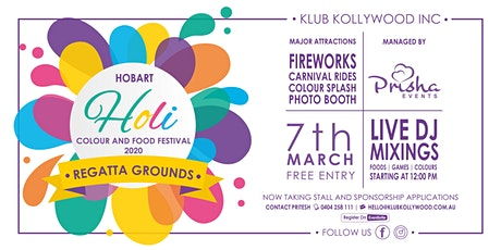 Hobart Holi Colour and Food Festival 2020 | PRISHA EVENTS tickets