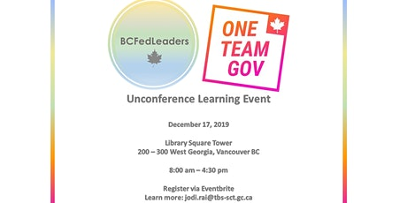 BCFedLeaders & OneTeamGov-Canada Unconference Learning Event tickets