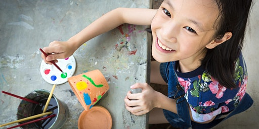 Ceramic Flower Pot Decoration School Holiday Program at Erina Library