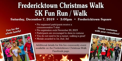 Fredericktown Christmas Walk - 5K Fun Run