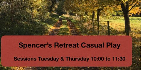 Spencers Retreat Tuesday play session 10:00 to 11:30 tickets