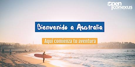 Bienvenido a Australia-MELBOURNE. Sesión informativa online. Open Conexus tickets
