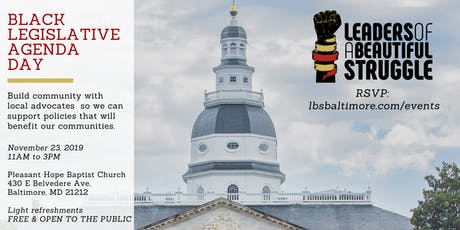Black Legislative Agenda Day: From the Baltimore Grassroots tickets