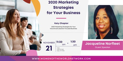 Women of the World Network Katy, TX: Marketing Strategies for Your Business