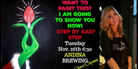 Paint Grinch Bulb  at ANDINA Brewing,  EAST VAN entradas