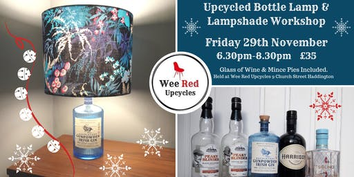 Upcycled Bottle Lamp and Lampshade Workshop - Fri 29th Nov 6.30pm-8.30pm