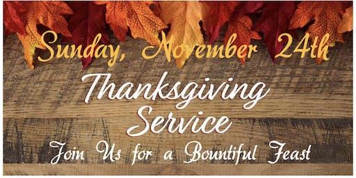 Thanksgiving Service & Feast