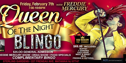 Queen of the Night Blingo Show with Freddie Mercury