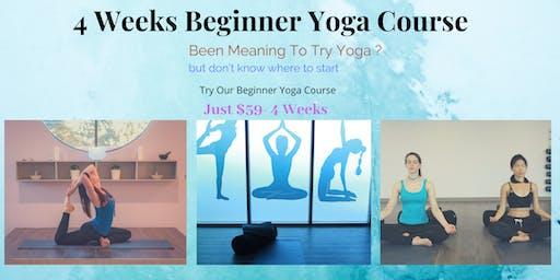 4 Weeks Beginner Yoga Course