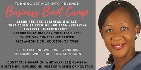 Business Boot Camp: Turning Service into Revenue tickets