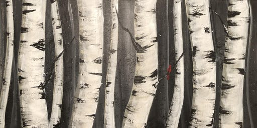 Paint Night @ Ironhand Winery-Winter Birch