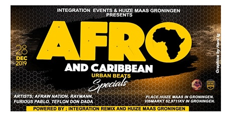 AFRO & Caribbean URBAN, Club Huize Maas Groningen. tickets
