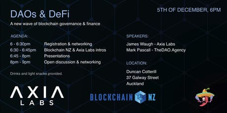 Decentralized Finance & Governance - New ways to Coordinate Society (AKL) tickets