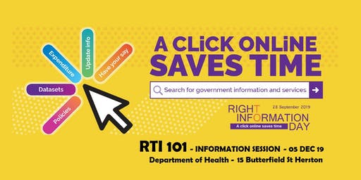 Department of Health - RTI 101 Information Session