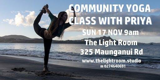 Community Yoga Class with Priya - Sun17Nov - The Light Room