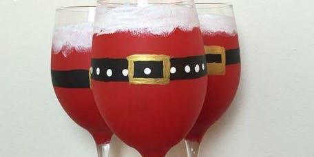Pour & Paint Santa Claus Wine Glasses