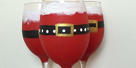 Pour & Paint Santa Claus Wine Glasses