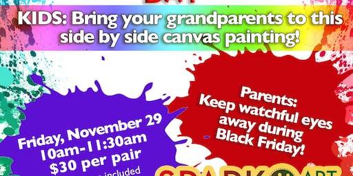 Grandparents Paint Day