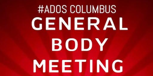 #ADOS Columbus Nov General Body Meeting