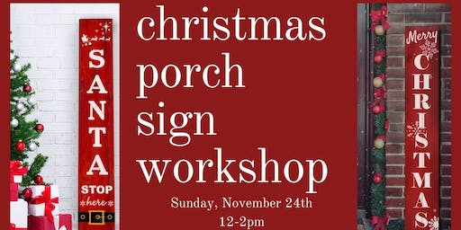 Christmas Porch Signs- Flushing