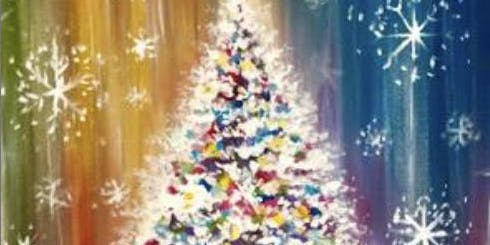 Paint with Ashley Blake  Tree - Toys for Tots fundraiser