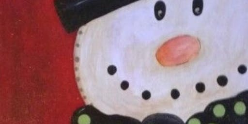 Paint with Ashley Blake Snowman -Toys for Tots fundraiser
