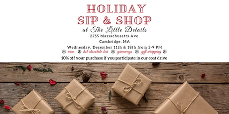 The Little Details Holiday Sip & Shop tickets