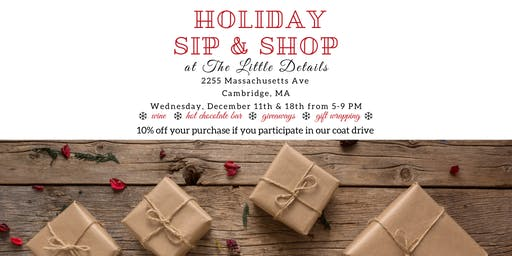 The Little Details Holiday Sip & Shop
