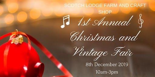 1st annual Christmas and Vintage fair.
