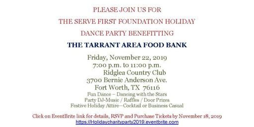 Holiday Dance Party benefitting the Tarrant Area Food Bank