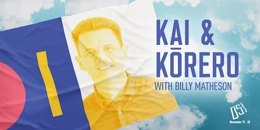 DSI Kai & Kōrero with Billy Matheson
