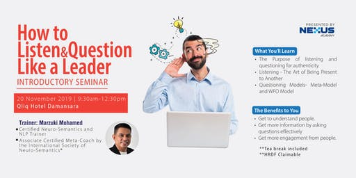 How to Listen and Question like a Leader