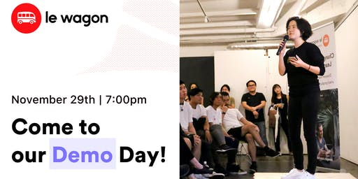 Demo Day - Le Wagon Tokyo Coding Bootcamp - Batch #310